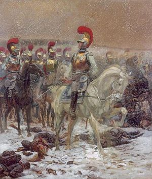 Carabiniers-à-Cheval - Carabiniers during the Russian Campaign, by Édouard Detaille.