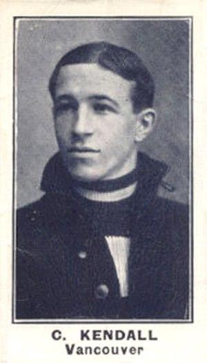 Carl Kendall - 1912 hockey card of Kendall