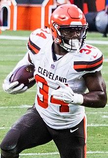 Carlos Hyde American football running back