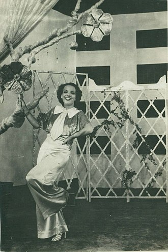 Cinema of Brazil - Carmen Miranda in Alô, Alô Carnaval (1936). The Brazilian actress gained visibility overseas.