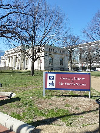 Mount Vernon Square - Image: Carnegie library in Mt Vernon Square Washington DC