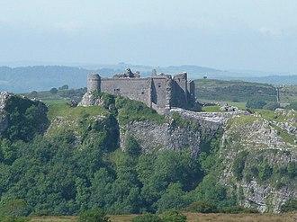 Carreg Cennen Castle - Image: Carreg Cennen Castle geograph.org.uk 563738