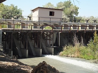 National Register of Historic Places listings in Nevada - Image: Carson Dam 1