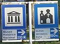 Carteles Museo Historico Nacional + Iglesia Ortodoxa Rusa, Buenos Aires.jpg