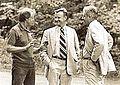 Carter, Brzezinski and Vance at Camp David, 1977.jpg
