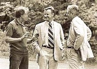 Zbigniew Brzezinski - U.S. President Jimmy Carter with Brzezinski and Cyrus Vance at Camp David in 1977