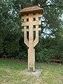 Carved wooden crucifix, Áldozat street, 2018 Győr.jpg