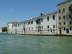Accademia di Belle Arti di Venezia - Façade of the Ospedale degli Incurabili, home of the Accademia