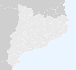 French Cerdagne - Map of Catalonia and the historical ''comarques''.