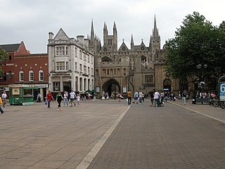 Peterborough City and unitary authority in England