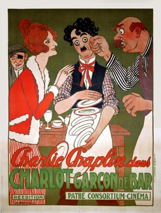 Caught in a Cabaret - Caught in a Cabaret in a French re-issue as Charlot Garçon de Bar
