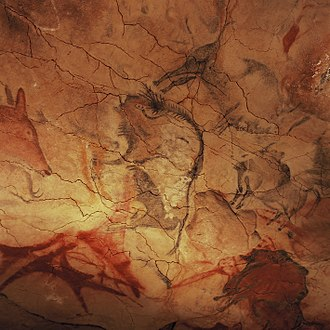 Cave of Altamira - Bison on the roof of the pit.