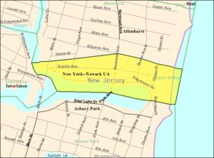 Loch Arbour, New Jersey - Image: Census Bureau map of Loch Arbour, New Jersey