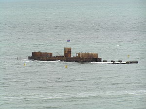 HMVS Cerberus - The remains of Cerberus in 2007