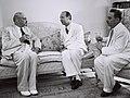 Chaim Weizmann - Seyfullah Esin - Moshe Sharett 1950.jpg