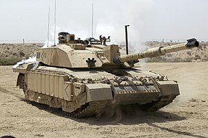 Challenger 2 - A Challenger 2 tank patrolling outside Basra, Iraq, during Operation Telic