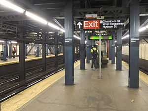 Chambers Street (IRT Broadway–Seventh Avenue Line) - Uptown platform