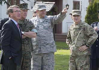 Curtis Scaparrotti - Scaparrotti with Secretary of Defense Ash Carter, Philip M. Breedlove and Joseph Dunford, 3 May 2016