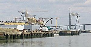 Ateliers et Chantiers de Saint-Nazaire Penhoët - The former A. C. Saint-Nazaire Penhoët shipyard on 21 July 2005