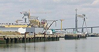 Ateliers et Chantiers de Saint-Nazaire Penhoët - The former Penhoët shipyard on 21 July 2005