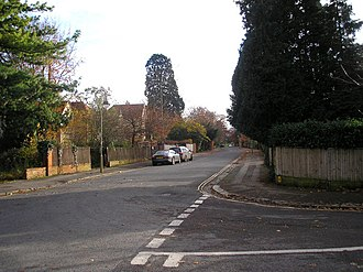 Charlbury Road - Looking south on Charlbury Road at the junction with Belbroughton Road on the right.