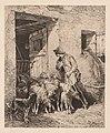 Charles-Émile Jacque - The Herd Exits (La Sortie du Troupeau) - 2016.199 - Cleveland Museum of Art.jpg