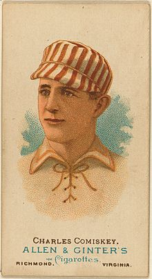Charles Comiskey's 1887 baseball card from the St. Louis Browns