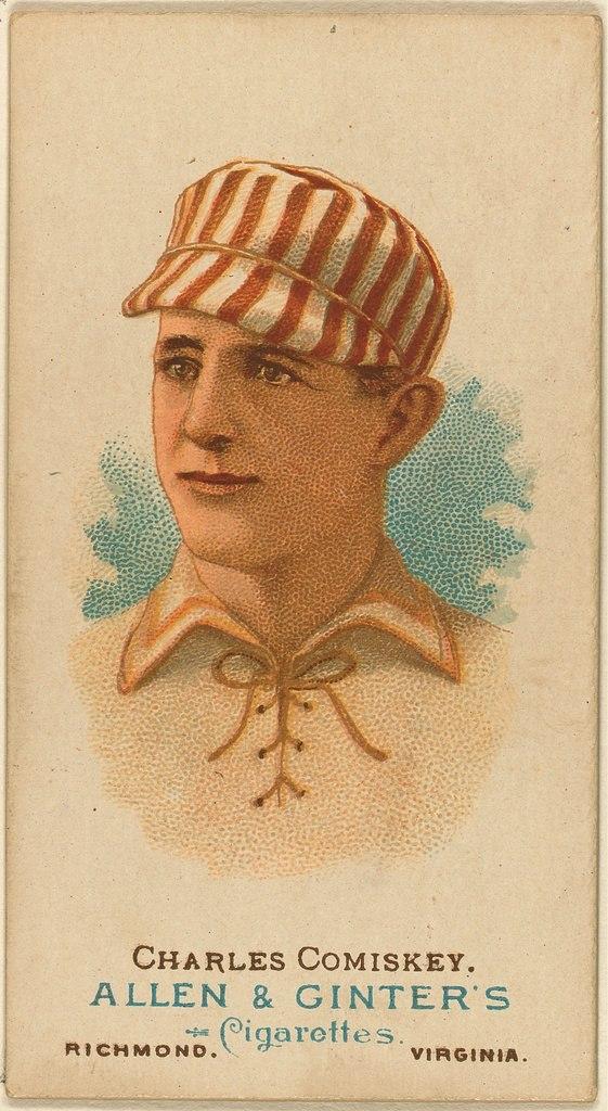 Charles Comiskey, St. Louis Browns baseball card, 1887