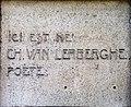 Charles Van Lerberghe gedenkplaat President Rooseveltlaan 101 Gent.jpg