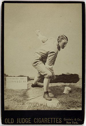 Charlie Sprague - Charlie Sprague, Chicago White Stockings, Pitcher, Old Judge Cigarettes