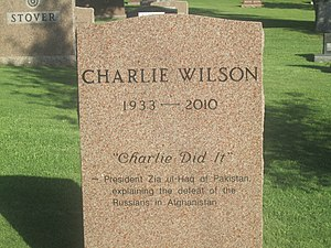 Charlie Wilson (Texas politician) - Wilson cenotaph at the Texas State Cemetery in Austin, Texas