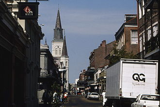 WDSU - WDSU's longtime French Quarter location, seen shortly before their move in 1996.