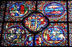 Labours of the Months - Chartres Cathedral, the months of December, January and February