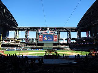 Chase Field Baseball stadium in Phoenix, AZ, US