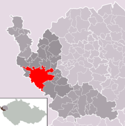 Location of Cheb