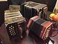 Chemnitzer concertina Pearl Queen, Anglo-German concertina Bastari Stagi, bandoneon.jpg