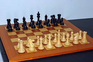 English: Starting position of a chess game. Ho...