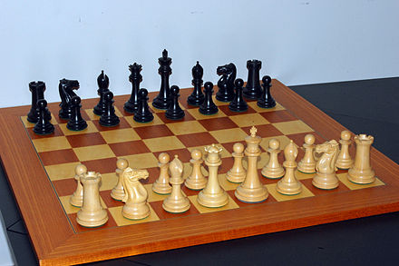 Setup at the start of a game ChessStartingPosition.jpg