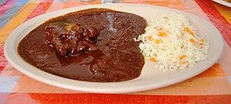 Mole sauce - Chicken in a dark red mole sauce