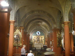 St Mark's English Church, Florence - Interior: nave and altar