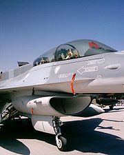 Avión F-16 de la Fuerza Aérea de Chile