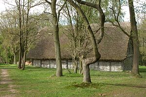 """The Trial of Elizabeth Gadge - The barn at the Chiltern Open Air Museum where """"The Trial of Elizabeth Gadge"""" was filmed"""