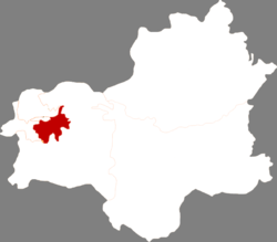 Location within Fushun City