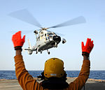 Chinese Helicopter Lands on HMS Cornwall MOD 45150751.jpg