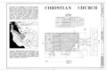 Christian Church, 160 Fifth Street, Gilroy, Santa Clara County, CA HABS CAL,43-GIL,5- (sheet 1 of 3).png