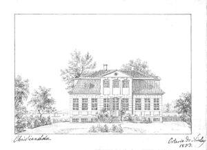 Christiansholm, Gentofte Municipality - Christiansholm in c. 1830