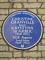 Christine Granville born Krystyna Skarbek 1908-1952 SOE Agent lived here 1949-1952.jpg
