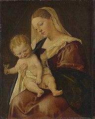 Muttergottes mit Kind und dem Zeisig