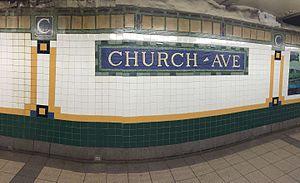 Church Avenue (IRT Nostrand Avenue Line) - Tilework