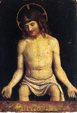 Christ seated